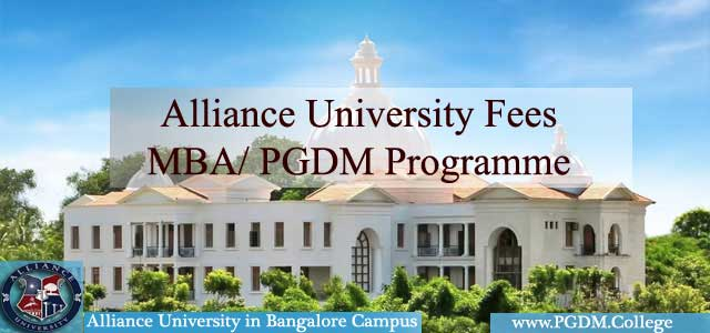Alliance University Fees MBA PGDM Programme
