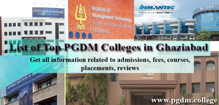 List of Top PGDM Colleges in ghaziabad