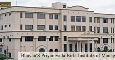 Bhavan'S Priyamvada Birla Institute of Management campus