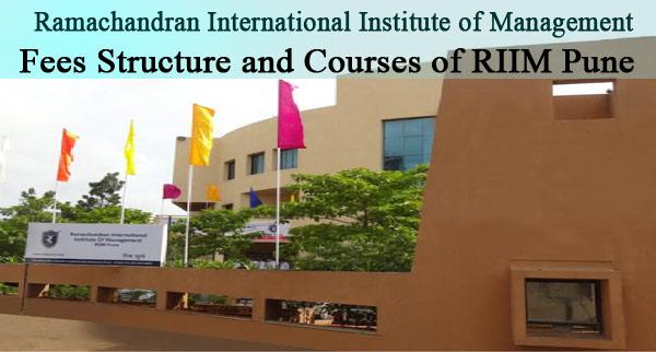 Fee Structure RIIM Pune